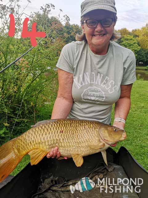 Christine's biggest fish of the week - 14lb Common Carp