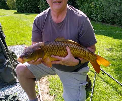 Nice twelve-pound carp on Sunday 2nd May, taken on luncheon meat. Always an enjoyable visit to this beautiful site.